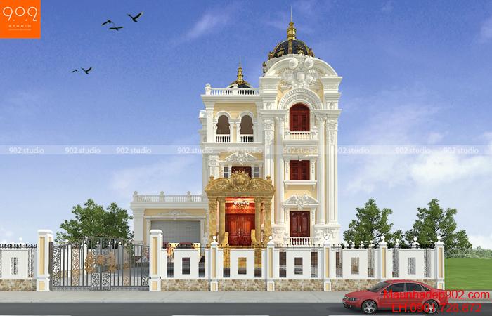 Mẫu kiến trúc biệt thự lâu đài kiểu Pháp sang trọng sự lựa chọn hàng đầu của các doanh nhân Việt Nam