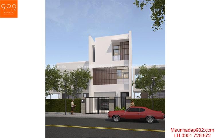 Thiết kế biệt thự phố 3 tầng