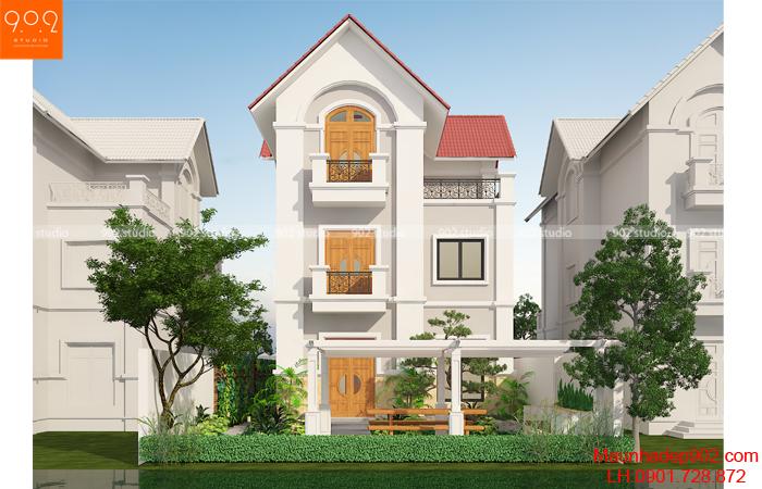 Mẫu biệt thự 3 tầng hiện đại - BT136