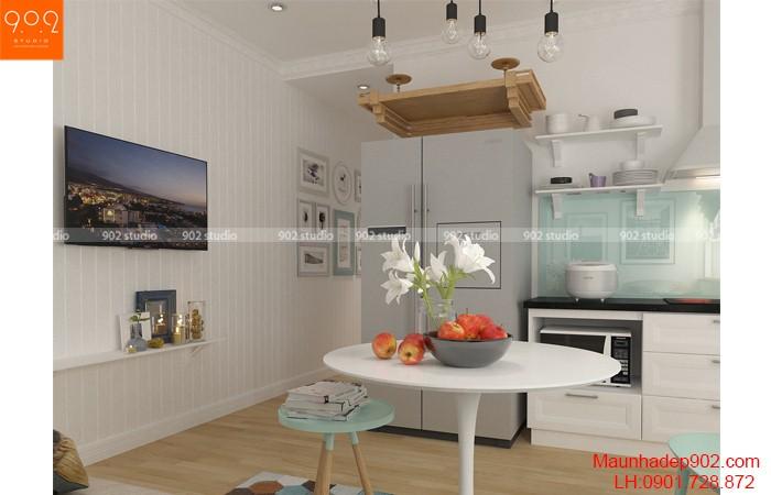 Mãu phòng ăn nhà chung cư phong cách hiện đại