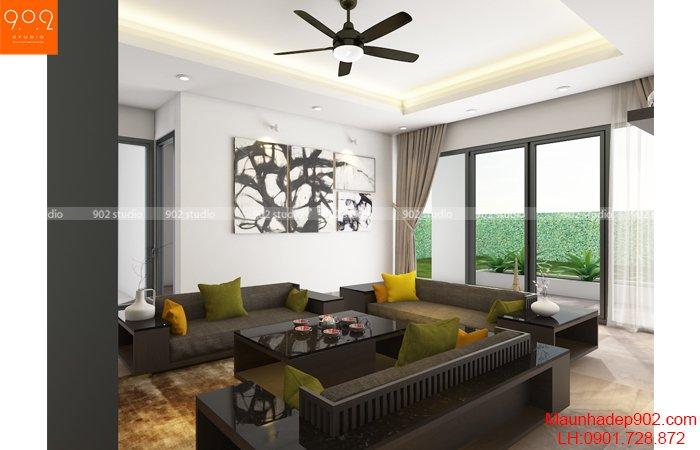 Mẫu nhà vườn 1 tầng 3 phòng ngủ mái thái - BT116