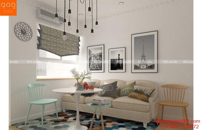 Thiết kế thi công nội thất nhà chung cư nhỏ 50m2 tại Hà Nội - NT26