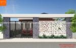 Nhà 1 tầng mái thái dẹp phong cách hiện đại