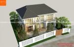 Nhà 2 tầng hiện đại mái thái