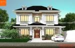 Nhà 2 tầng đẹp phong cách tân cổ điển
