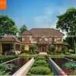 Mẫu biệt thự nhà vườn mái thái nông thôn - BT11