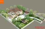 Thiết kế biệt thự vườn 2 tầng mái thái - BT159