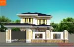 Mẫu nhà 2 tầng đơn giản nông thôn