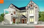 Mẫu nhà 2 tầng đẹp 4 phòng ngủ mặt tiền nhà phố đẹp