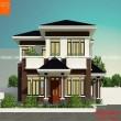 Thiết kế nhà 2 tầng 100m2 4 phòng ngủ Hà Đông - Hà Nội