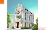 Biệt thự 3 tầng đẹp kiểu Pháp tân cổ điển