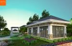 Mẫu nhà vườn 2 tầng mái thái