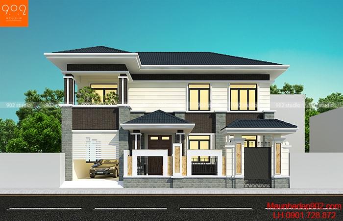 Tổng hợp những mẫu nhà 2 tầng đơn giản