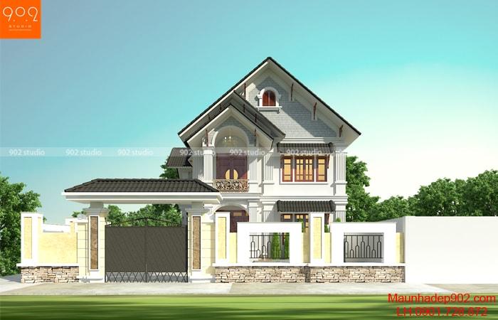 Tổng hợp những mẫu nhà mái thái 2 tầng đẹp