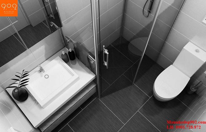 Cách bố trí nhà vệ sinh trong nhà ống