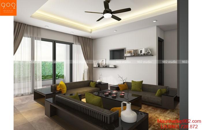 Cách kết hợp màu sắc cho phòng khách thêm xinh