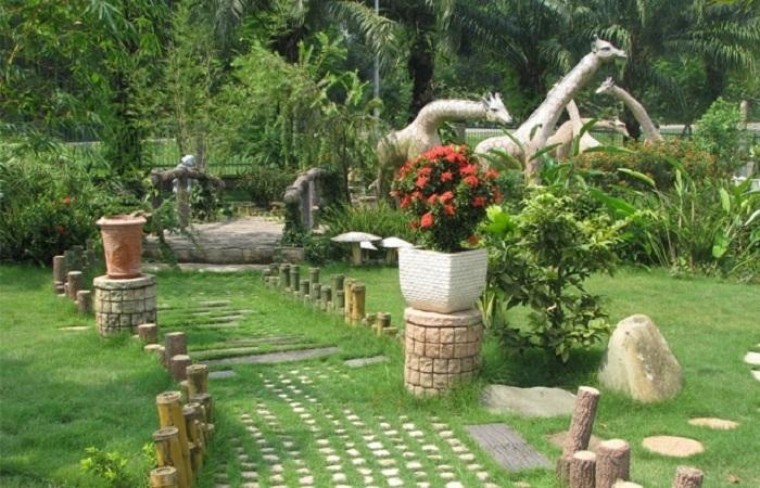 Bố trí sân vườn phong thủy đón tài lộc