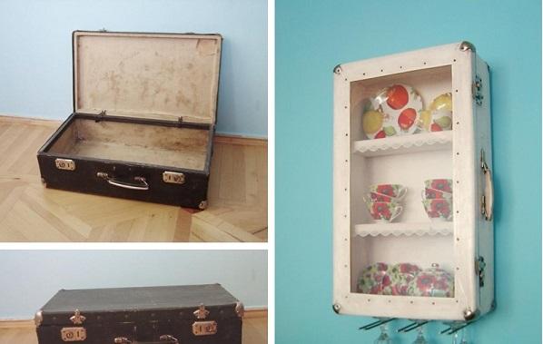 Tận dụng vali đã cũ cho phòng khách thêm sáng tạo