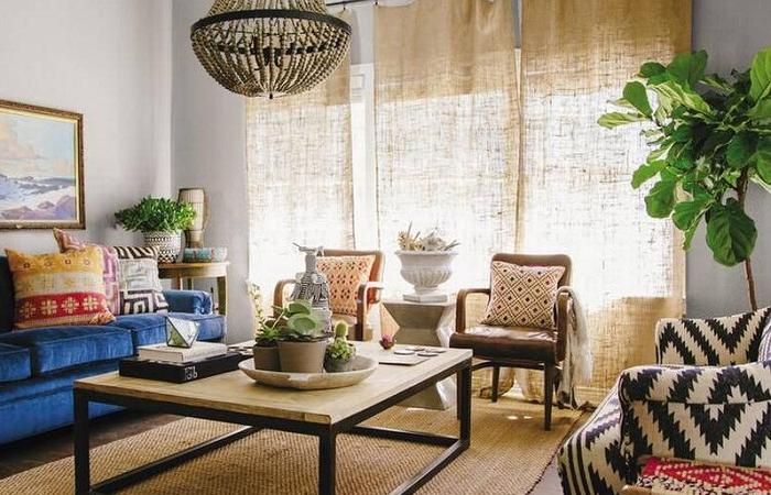 Thiết kế phòng khách theo phong cách Bohemian