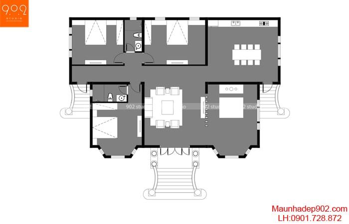 Tìm hiểu về cách thiết kế diện tích các phòng trong nhà ở