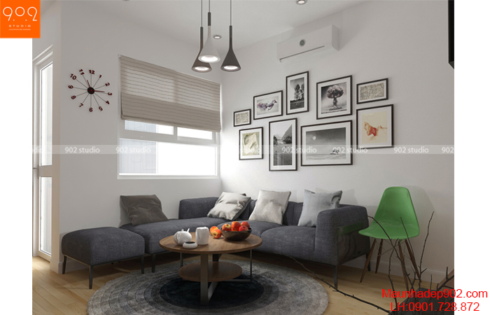 Tư vấn thiết kế nội thất cho căn hộ 64m2