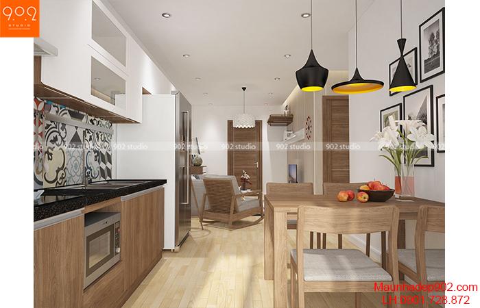 Tư vấn thiết kế nội thất cho căn hộ 67m2 với tổng chi phí chưa tới 80 triệu đồng